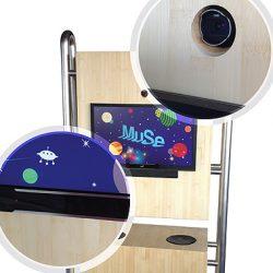 kiosk a controllo oculare personalizzato per il Muse Museo della scienza di Trento