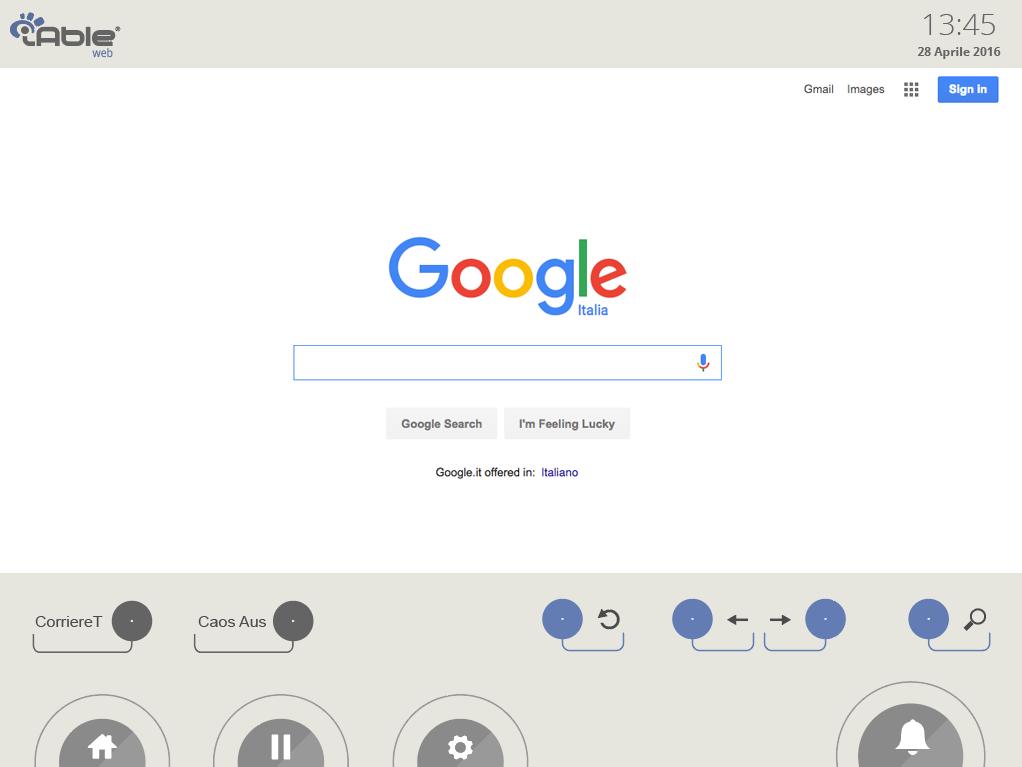 schermata del browser nel software IableWeb
