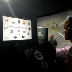 SR Labs eye tracking PoliFX Kiosk for Nestlé at Milan EXPO 2015