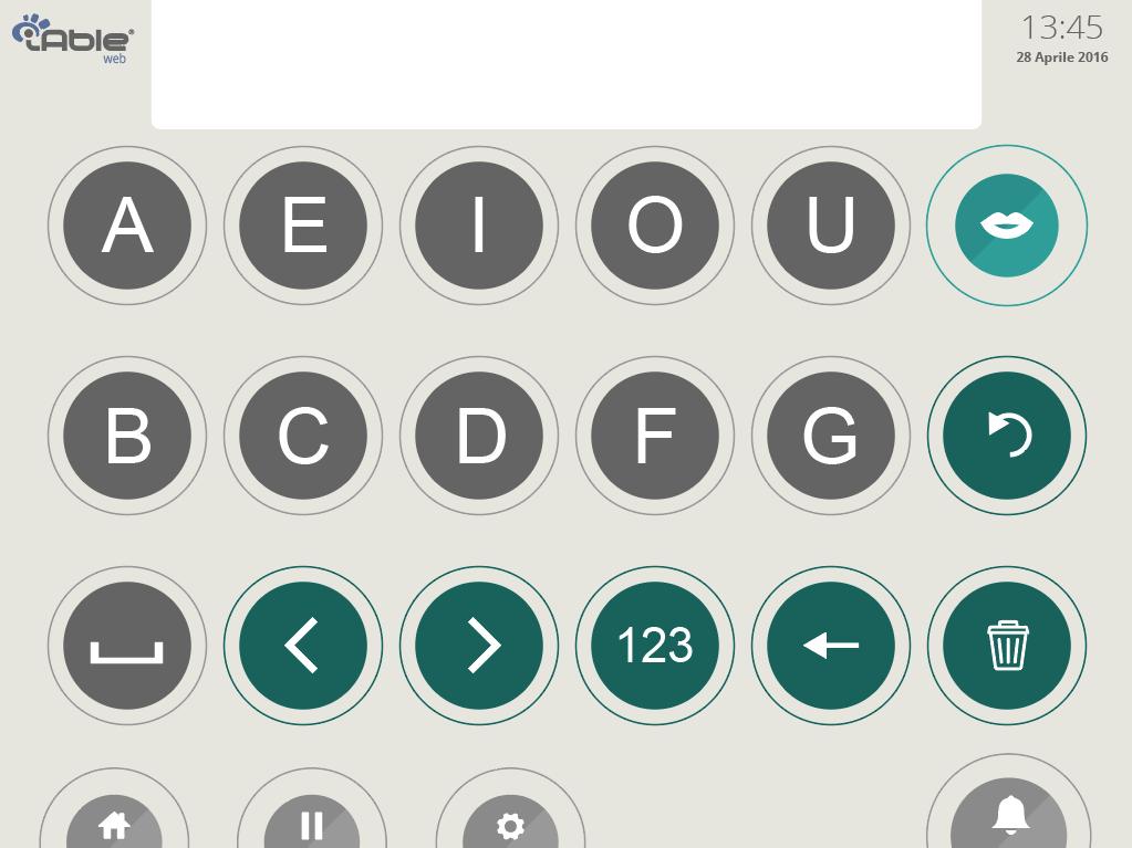 schermata tastiera facilitata software iable web srlabs