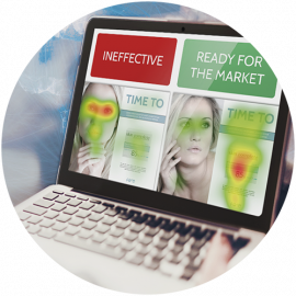il software eyespot per il controllo oculare di studi online