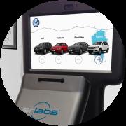 Kiosk interattivi a controllo oculare con scenari