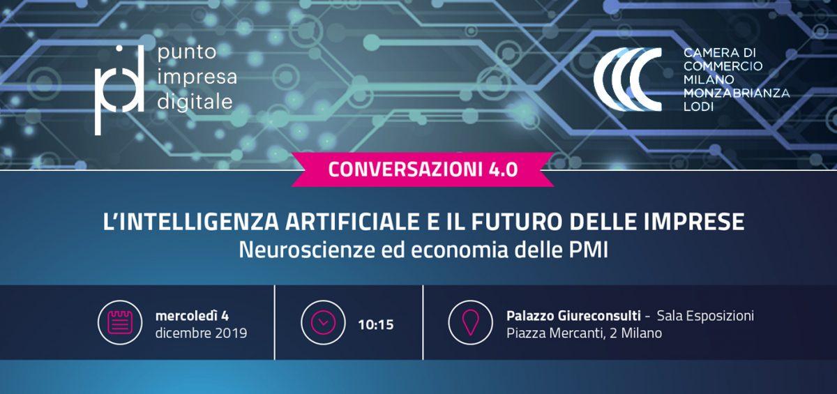 evento camera di commercio su intelligenza artificiale e il futuro delle imprese