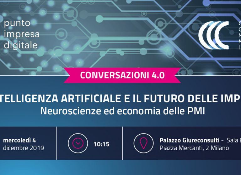 evento camera di commercio su intelligenza artificiale e il futuro delle imprese