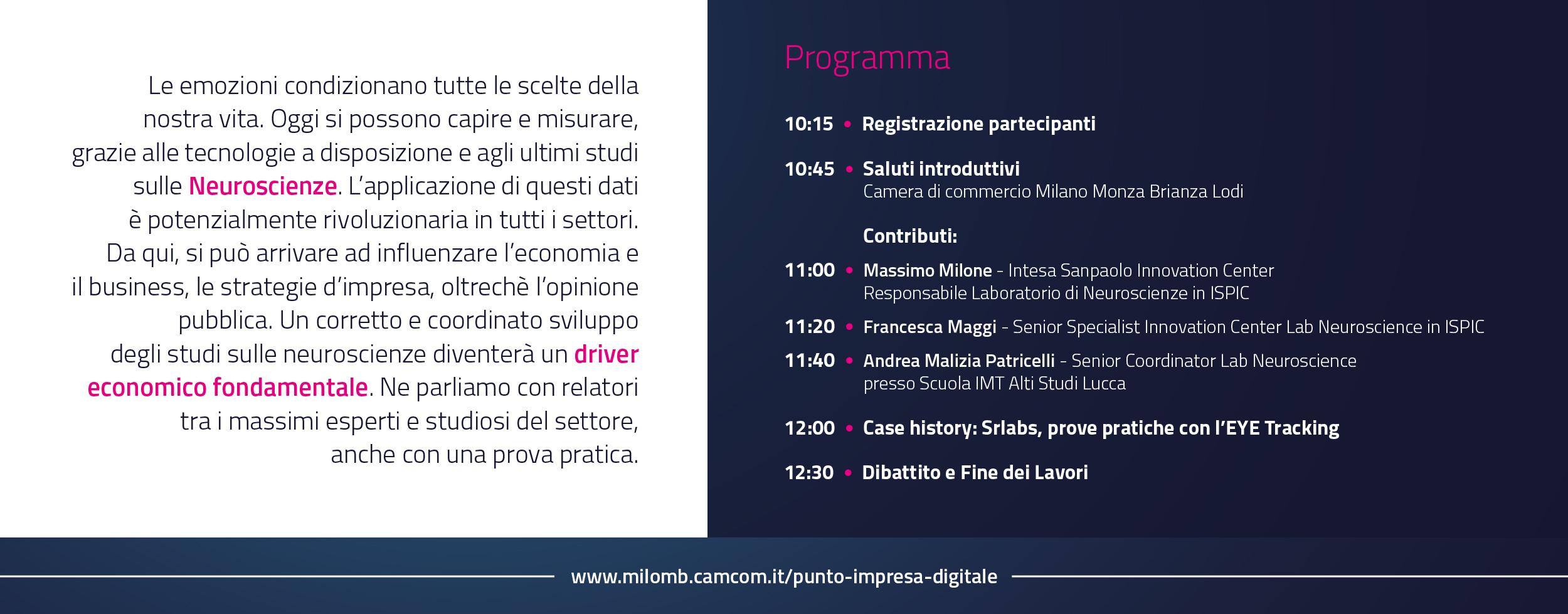 programma evento camera di commercio per il futuro delle imprese