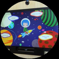 Eye tracking PoliFX Kiosk con un gioco installato al MUSE