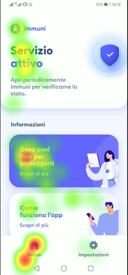 user experience test su app immuni per covid19