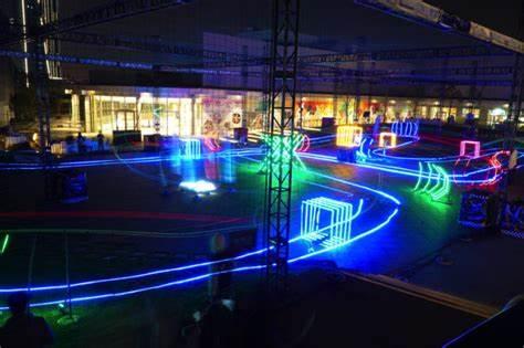 drone championship race neon