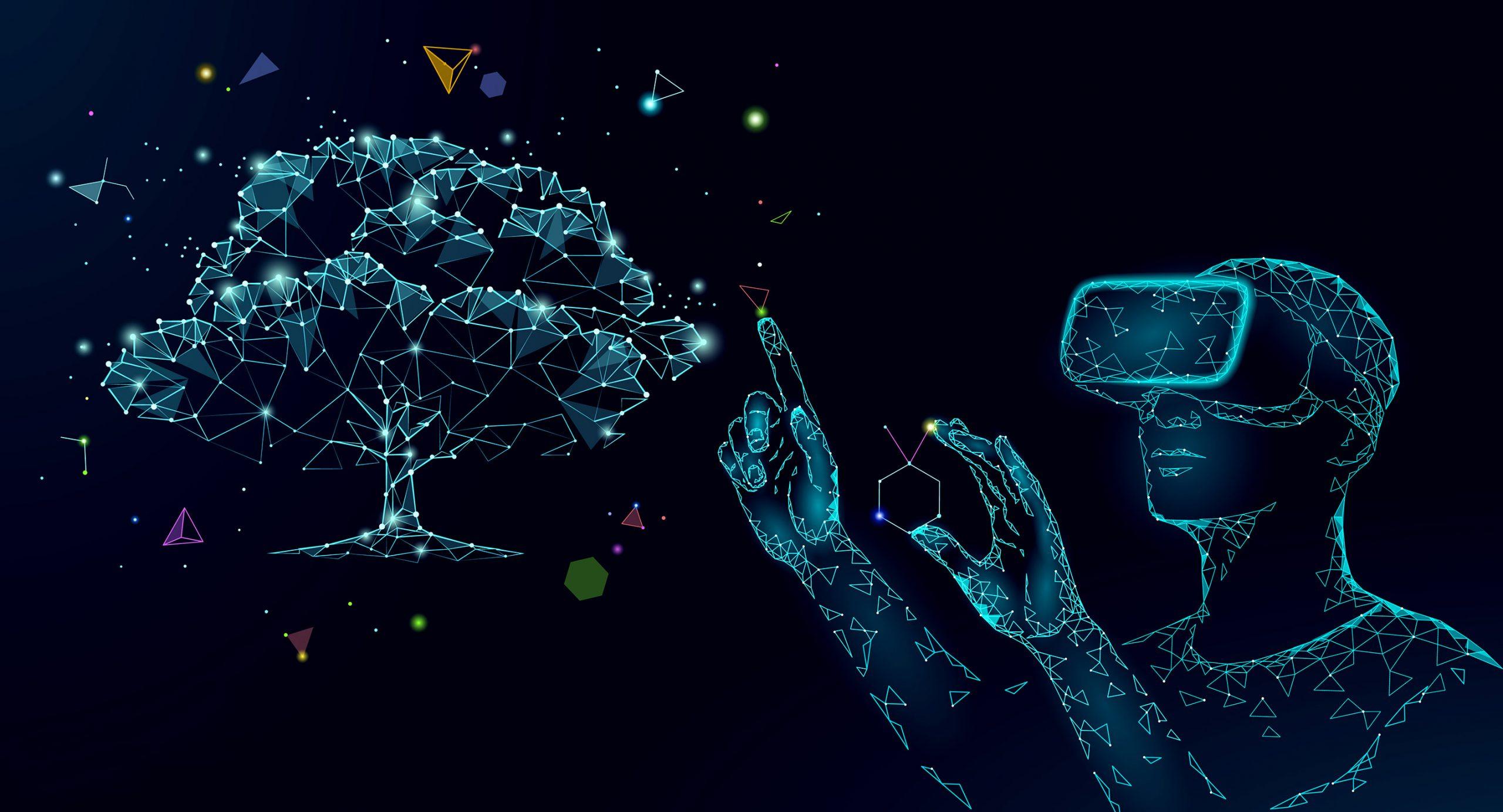 eye tracking and virtual reality digital tree