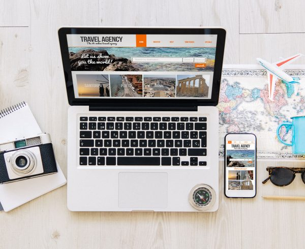 devices with travel agency responsive web