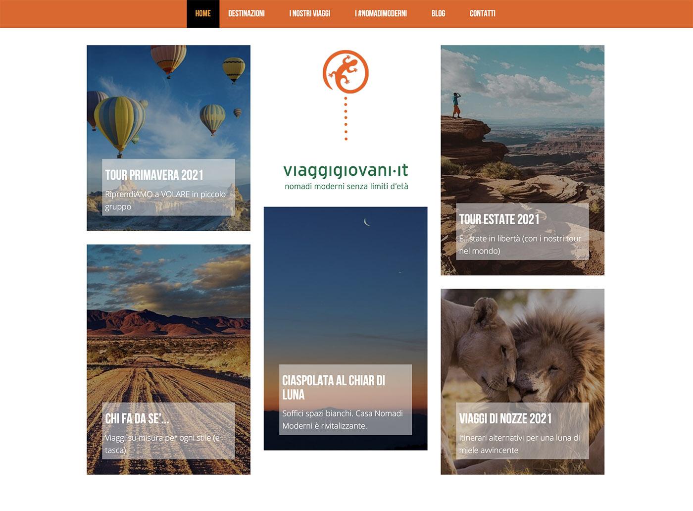 viaggigiovani landing page website